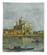 Venice. A View Of The Church Of San Giorgio Maggiore Fleece Blanket