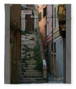 Venice Alleyway Fleece Blanket