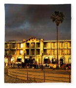 Venice Beach. Golden Sunset Fleece Blanket