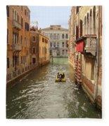 Venice Canal 2 Fleece Blanket
