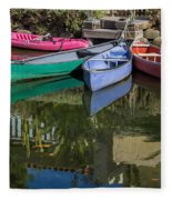 Venice Canal Reflections Fleece Blanket