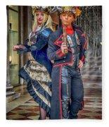 Venice Carnival Characters_dsc1364_02282017  Fleece Blanket
