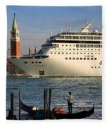 Venice Cruise Ship 2 Fleece Blanket