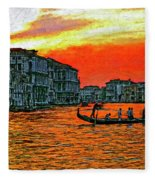 Venice Eventide Impasto Fleece Blanket