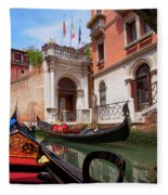 Venice From A Gondola Fleece Blanket