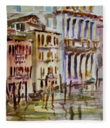 Venice Impression II Fleece Blanket