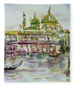 Venice Impression Iv Fleece Blanket