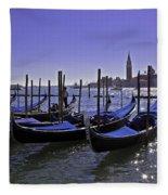 Venice Is A Magical Place Fleece Blanket