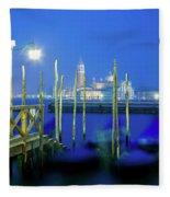 Venice Lagoon At Dusk Fleece Blanket