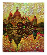 Venice Reflections Fleece Blanket