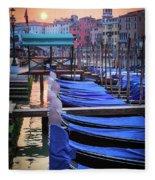 Venice Sunrise Fleece Blanket