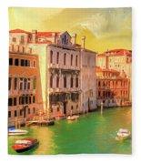 Venice Water Taxis Fleece Blanket