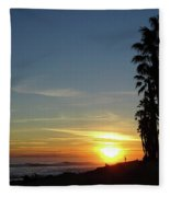 Ventura Sunset Fleece Blanket