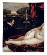 Venus And The Organist Fleece Blanket