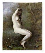 Venus Bathing Fleece Blanket