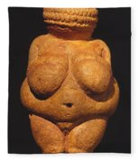 Venus Of Willendorf Fleece Blanket