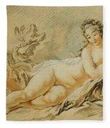 Venus Resting Fleece Blanket