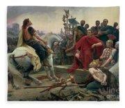 Vercingetorix Throws Down His Arms At The Feet Of Julius Caesar Fleece Blanket
