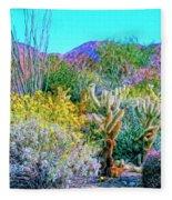 Verdant Spring Mohave Desert Fleece Blanket