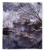 Verde Spring Reflections Fleece Blanket