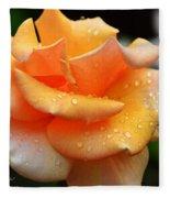 Variegated Yellow Rose Fleece Blanket