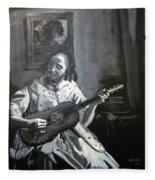 Vermeer Guitar Player Fleece Blanket