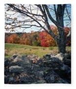 Vermont Autumn Fleece Blanket