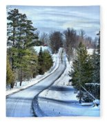 Vermont Country Landscape Fleece Blanket