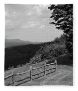 Vermont Countryside 2006 Bw Fleece Blanket