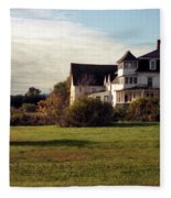 Vermont Farmhouse Fleece Blanket