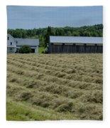 Vermont Farmhouse With Hay Fleece Blanket