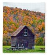 Vermont Garden Shed In Autumn Fleece Blanket