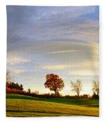 Vermont Hilltop Sunrise Fleece Blanket