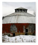 Vermont Round Barn Fleece Blanket