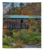 Vermont Rural Autumn Beauty Fleece Blanket