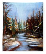Vermont Stream Fleece Blanket