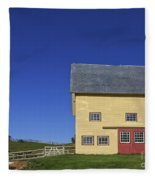 Vermont Yellow Barn 8x10 Ratio Fleece Blanket