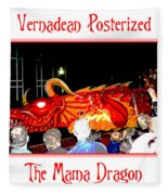 Vernadean Posterized - The Mama Dragon Fleece Blanket