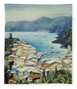 Vernazza Cinque Terre Italy Fleece Blanket