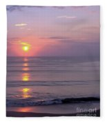 Vero - Beach -  Sunrise Fleece Blanket