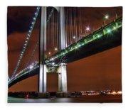 Verrazano Bridge Fleece Blanket