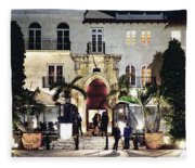 Versace Mansion South Beach Fleece Blanket