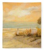 Verso La Spiaggia Fleece Blanket by Guido Borelli