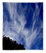 Vertical Clouds Fleece Blanket