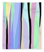 Vertical Coloration Fleece Blanket