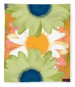 Vertical Daisy Collage II Fleece Blanket