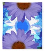 Vertical Daisy Collage Fleece Blanket