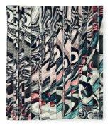 Vertical Graphic Layers Fleece Blanket
