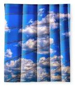 Vertical Sky Fleece Blanket