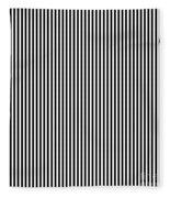 Vertical Stripes In Black And White Fleece Blanket